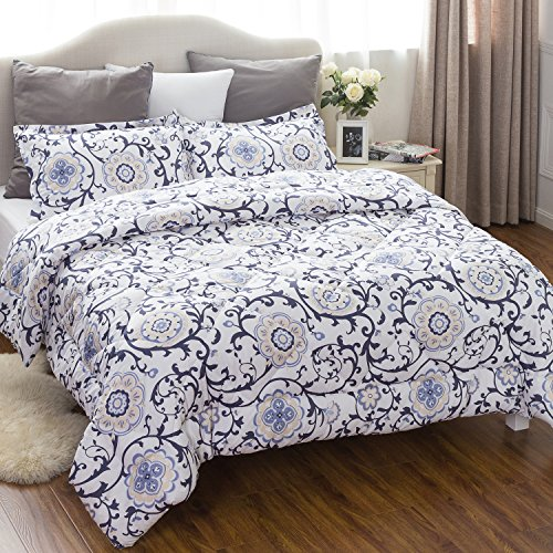 King comforter set with corner ties classics traditional - Home design down alternative comforter ...