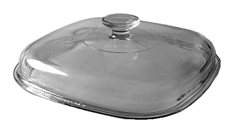 Corning Ware Pyrex Clear Square Glass Lid 9 3 4 Width A