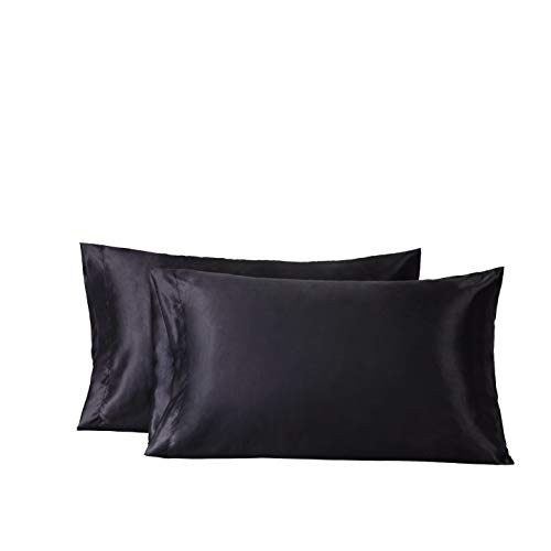 Grey Bedsure Standard Size Satin Pillowcase For Hair And