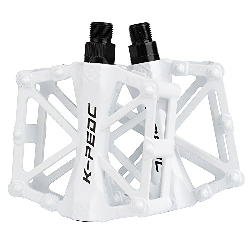Pair Aluminum Alloy MTB Road Bike Cycling Bicycle Platform Wide Pedals Non-slip
